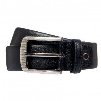 Ремень мужской джо, винт, пряжка под тёмный металл, ширина - 3,8см, чёрный