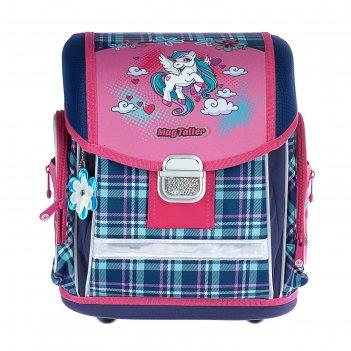 Ранец на замке mag taller evo, 37 х 30 х 21 см, для девочки, unicorn
