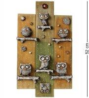 Kk-529 панно совиная семья шамот