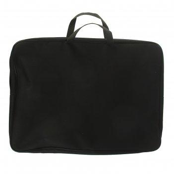 Папка с ручками текстиль 475*345*45 пмд 3-01 черный