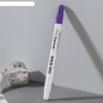 Маркер для ткани самоисчезающий, mkr-001, с корректором, цвет фиолетовый
