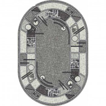 Овальный ковёр silver albina 3, 100x200 см, цвет gray