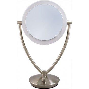 Зеркало* ed19mtsn-scl настольное 2-стор. 10-кр.ув.,19 см, с led-подсветкой