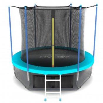 Батут с внутренней сеткой и лестницей  evo jump internal 8ftwave диаметр24