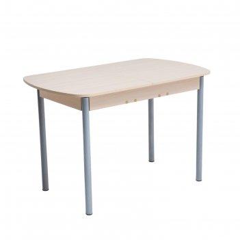 Стол универсальный эконом 1145/1415х680х750 дуб млечный/опоры серый