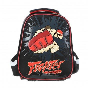 Рюкзак каркасный hatber ergonomic light 38 х 29 х 11, для мальчика fighter