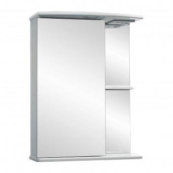 Зеркало-шкаф ника, светильник 500 фацет левое