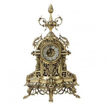 Часы каминные  пинья  бронзовые