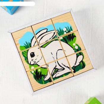 Кубики животные леса 9 элементов