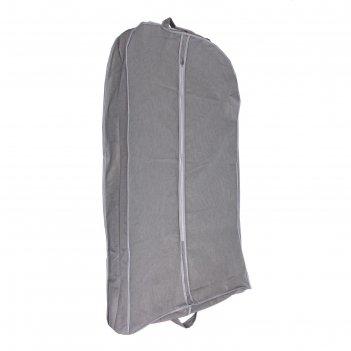 Чехол для одежды зимний 100х60х10 см, цвет серый