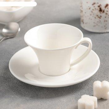 Кофейная пара: чашка 100 мл, блюдце, wl-993168 / ab