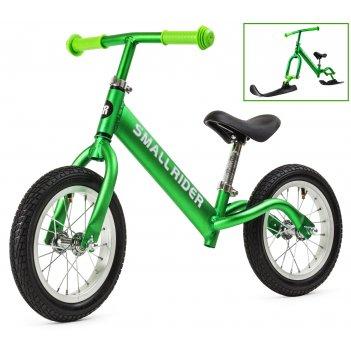 Беговел small rider foot racer air с лыжами и колесами, алюминий, надувка