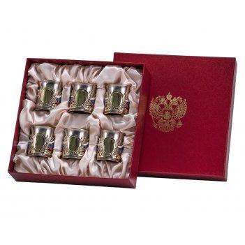 Набор из 6-ти стопок державных (центральный медальон- пустой,