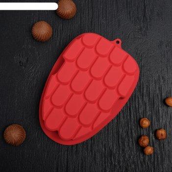 Форма для льда и шоколада «малина», 22 ячейки, 17x11,5x2,8 см, цвет микс