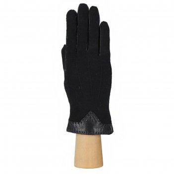 Перчатки женские натуральная кожа/шерсть (размер 7.5) черный