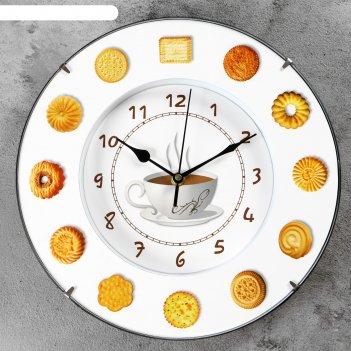 Часы настенные, серия: кухня, печеньки, d=30 см