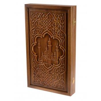 Нарды мечеть кул-шариф, патина, бук,  50 х 29 х 7 см.