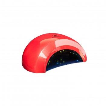 Лампа для гель-лака tnl l48-02, uv/led, 48 вт, таймер 10/30/60 сек, красна