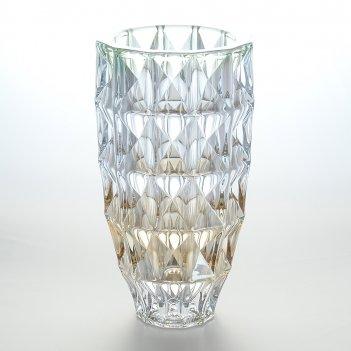 Ваза зеленая bohemia gold diamond 28 см