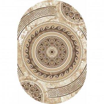 Овальный ковёр valencia deluxe d300, 80 х 150 см, цвет cream-brown