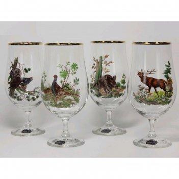 Набор пивных стаканов «ассорти» 380 мл, 4 шт