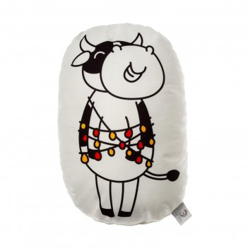 Подушка декоративная этель happy cow, 42х30 см, велюр, 100% п/э