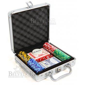 Набор для покера 100 фишек the international