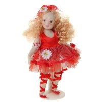 Кукла коллекционная варвара в платьишке с юбкой из сетки