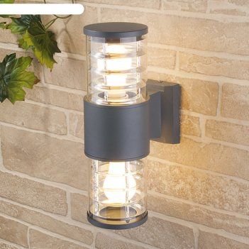 Светильник elektrostandard садово-парковый, 2х60 вт, e27, ip54, настенный,