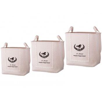 Набор корзин для белья с ручками из 3-х шт l: 43*3...