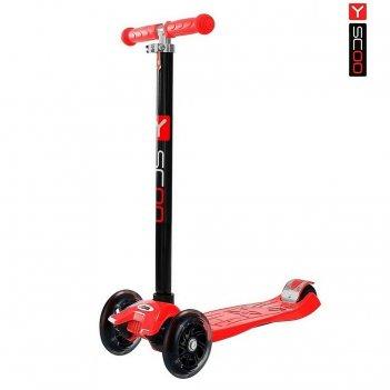 Y-scoo rt maxi shine a20 red с 4-мя светящимися колесами
