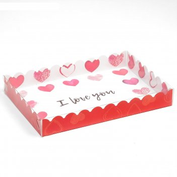 Коробочка для печенья романтика, 22 х 15 х 3 см