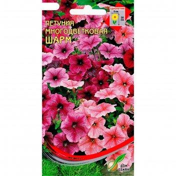 Семена цветов петуния многоцветковая шарм дом семян, о, 230 шт