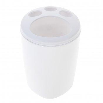 Подставка для зубных щеток aqua, снежно-белая