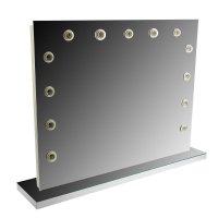 Зеркало гримерное напольное 90 х 70 см, 13 лампочек, лампы в комплект не в