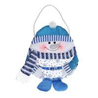 Сумочка для подарка снеговик (голубой наряд)