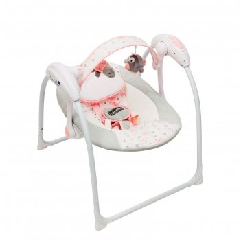 Электронные качели amarobaby swinging baby, цвет gray-pink