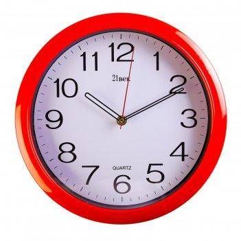 Часы настенные круглые классика, d=30 см, красные