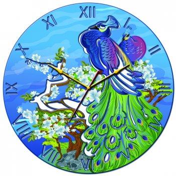 Часы настенные tiarella павлин