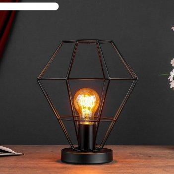 Настольная лампа 4604 1хe27 60вт черный