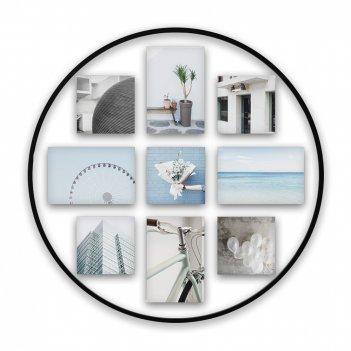 Рамка для фото настенная infinity, диаметр: 53 см, материал: металл, полиэ