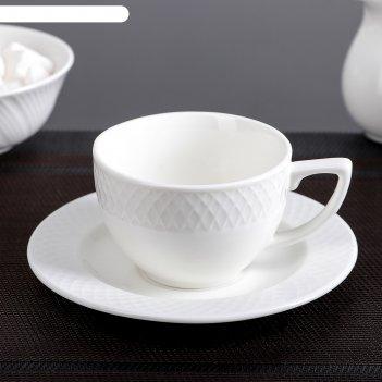 Кофейная пара юлия высоцкая: чашка 170 мл, блюдце, wl-880106-jv / ab