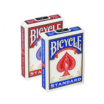 """Карты """"bicycle blank card both sides red/blue"""""""