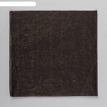 Салфетки бумажные однотонные, выбит рисунок, 33х33 см, набор 20 шт, цвет ч