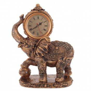 Часы настольные декоративные слон, l27 w13 h33 см, (1хаа не прилаг.)