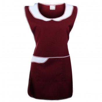 Фартук № 30, размер 42-48, цвет бордовый