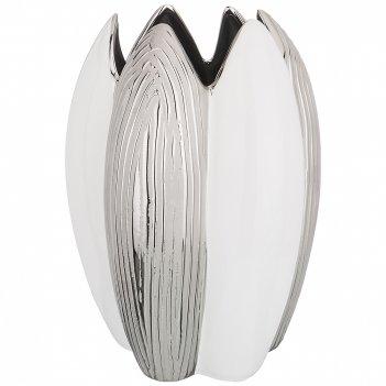 Ваза декоративная серебряная коллекция 22*20,5*31,5 см (кор=12 шт.)