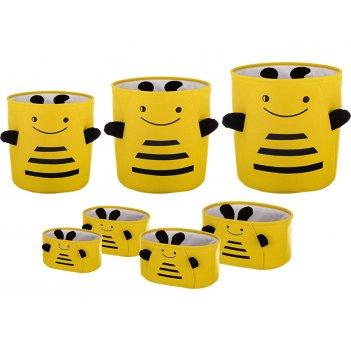 Набор корзин для  игрушек из 7 шт l:ф40*42;m:ф36*39;s:ф32*37;xl:36*27*17;x