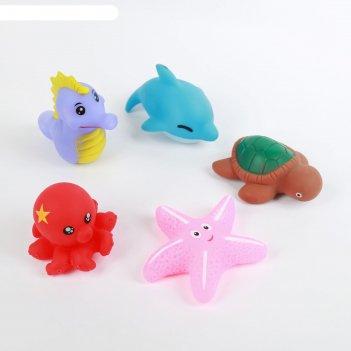 Набор игрушек для ванны «морской мир», 5 шт., цвета микс
