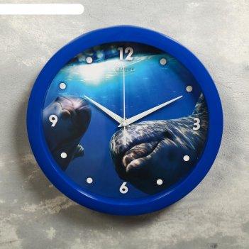 Часы настенные, серия: животные, дельфин, 28х28 см